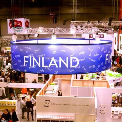 Finland 100 år tema på Bokmässan. Foto: Finlands ambassad