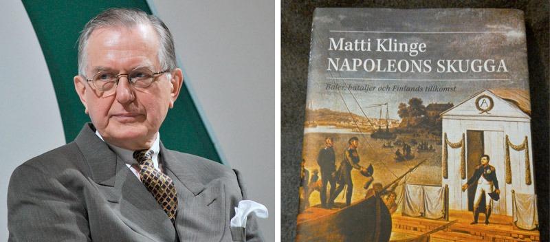 Napoleons skugga; baler, bataljer och Finlands tillkomst, av prof. Matti Klinge, Söderströms/Atlantis 2009, 363 sidor