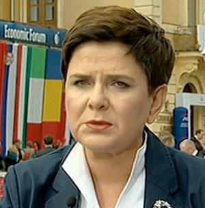 """Polens premiärminister Beata Szydlo: """"Vår politik i migrantfrågan kommer inte att förändras."""""""