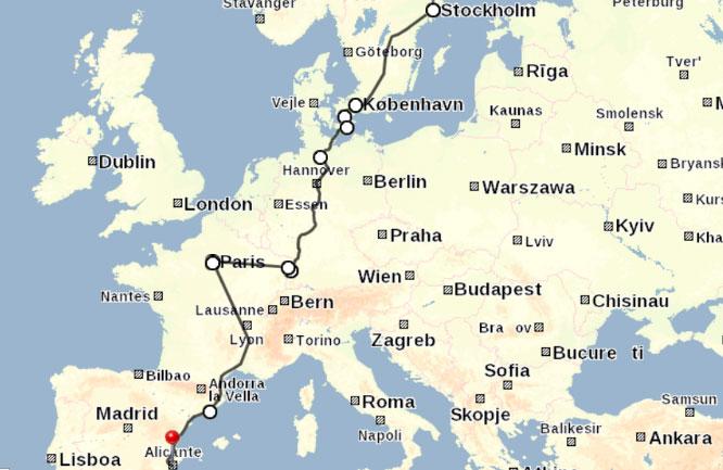 Ny rutt. ZDF TV visar vägen över Svarta havet från Turkiet till Europa. Den röda linken är stängsel som Ungern byggt upp. Stillbild: ZDF TV