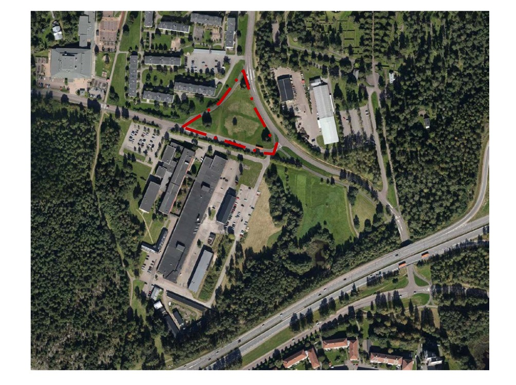Moskén kommer att ligga precis bredvid en skola. Karta: Karlstad kommun