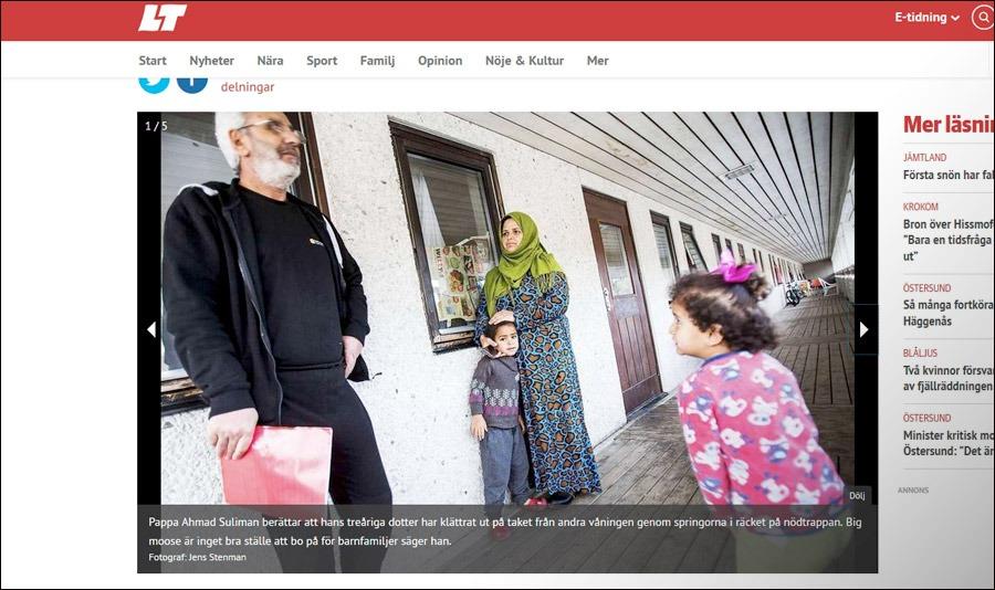 Ahmad Suliman intervjuas i BT efter att nyligen anlänt till Sverige. Han var inte nöjd med servicen. Stillbild. DT